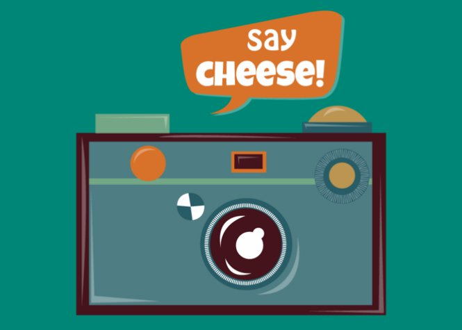 Say Cheese Camera Birthday Card